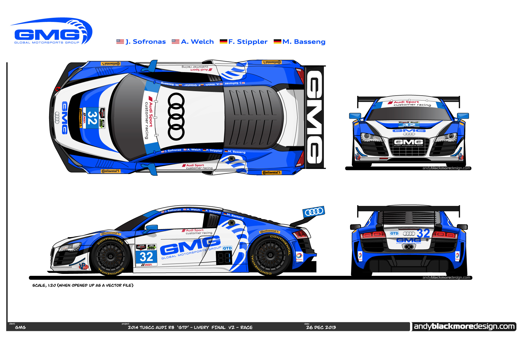 Audi Presents Gmg S 2014 Tudor Uscc Livery Design Andy