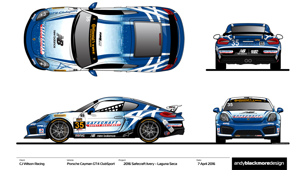 Clients Cj Wilson Racing Tyler Mcquarrie And Safecraft Join Forces Andy Blackmore Design