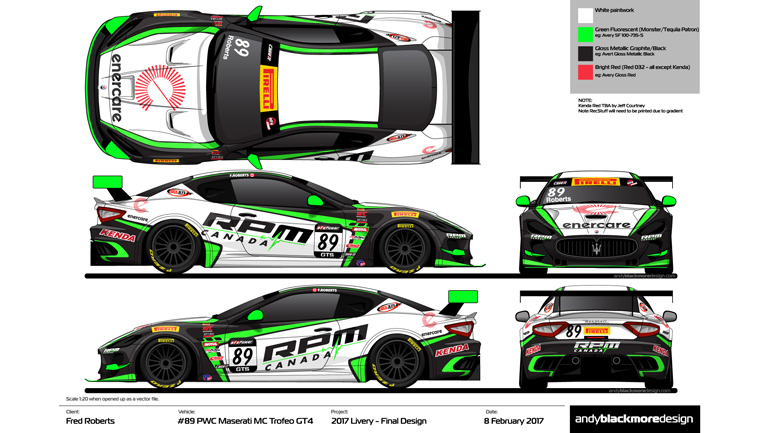 New Liveries For Jeff Courtney Racing Andy Blackmore Design