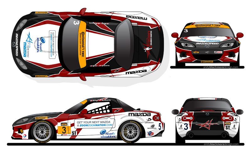 What Is A Livery Vehicle >> Livery Cj Wilson Racing Mazda Mx 5 Livery Andy Blackmore Design