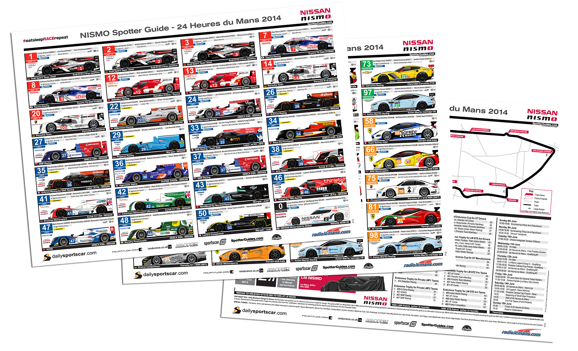 nismo spotter guide for 2014 le mans is now live andy. Black Bedroom Furniture Sets. Home Design Ideas