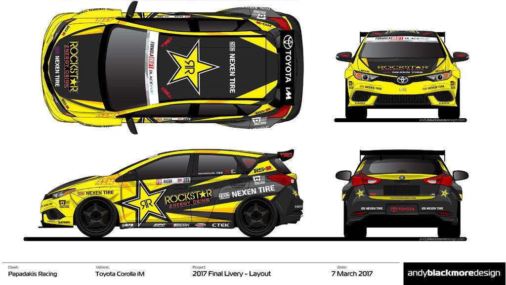 Toyota 86 Livery >> Rockstar Energy / Nexen Tire Toyota iM Livery for Papadakis Racing - Andy Blackmore Design