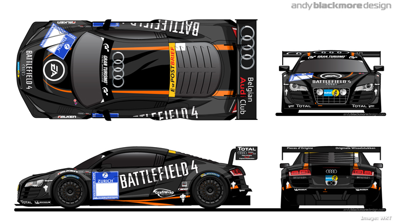 Livery Battlefield 4 Audi R8 Lms Ultra Andy Blackmore