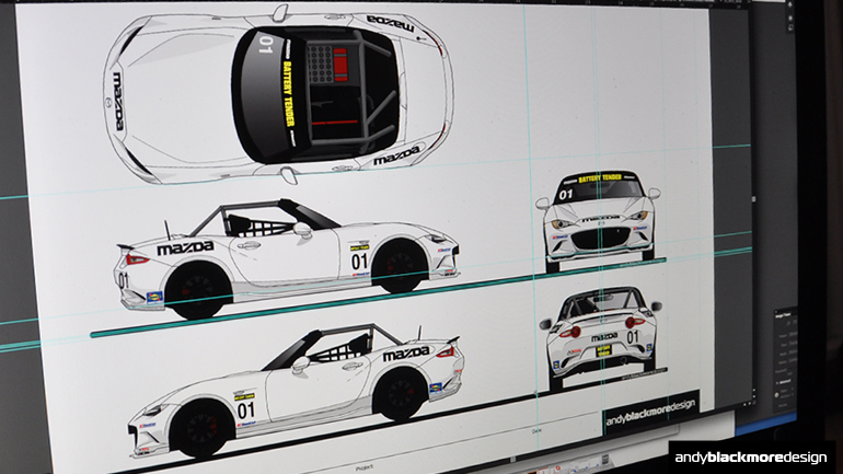 Vehicle Livery Templates update  - Andy Blackmore Design