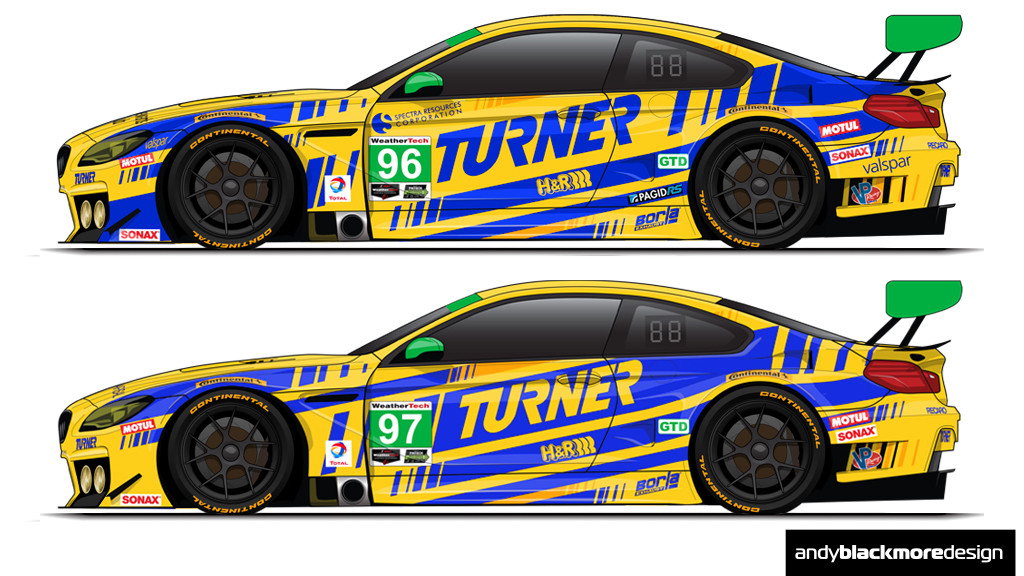 Livery Turner Motorsport Bmw M6 Gt3 Andy Blackmore Design