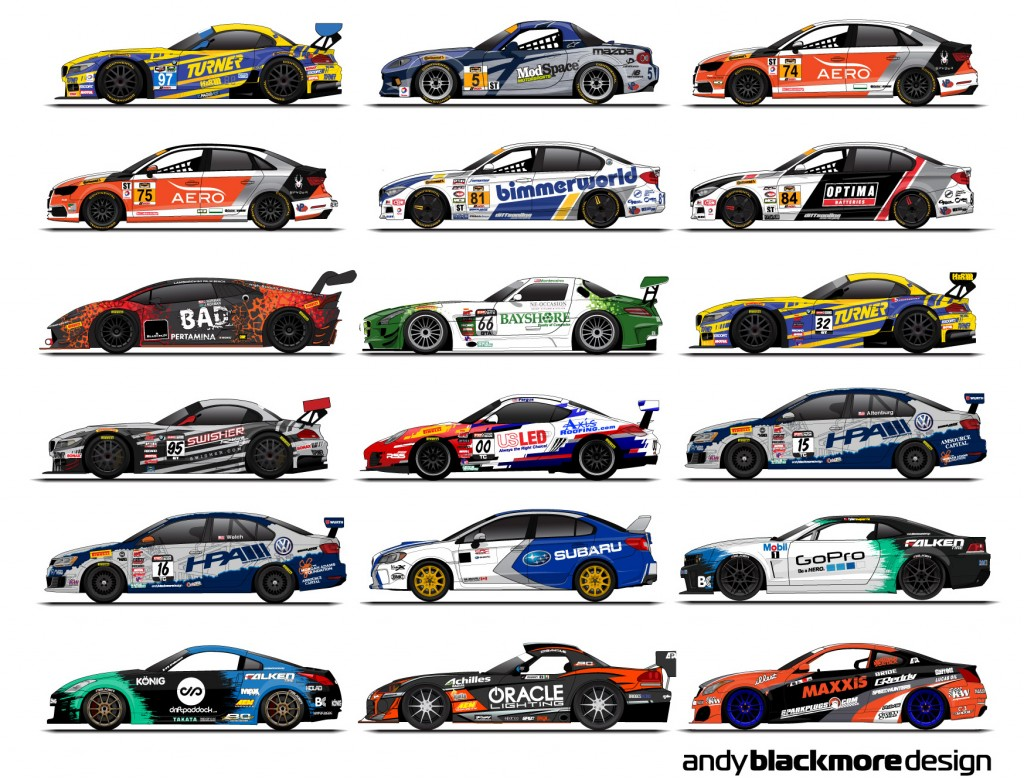 Graphic Race Car Designs